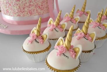 Domed unicorn cupcakes