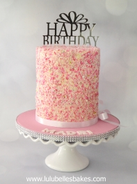 Sprinkle double barrel cake