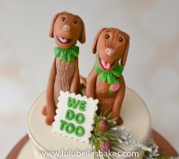 Wedding dog topper