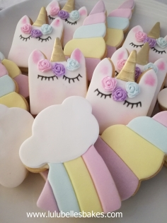 Unicorn and Rainbow biscuits