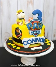 "Paw Patrol ""Rubble"" cake"